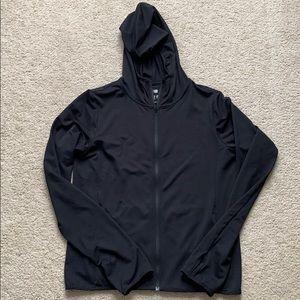 uniqlo airism uv cut mesh hoodie sm black